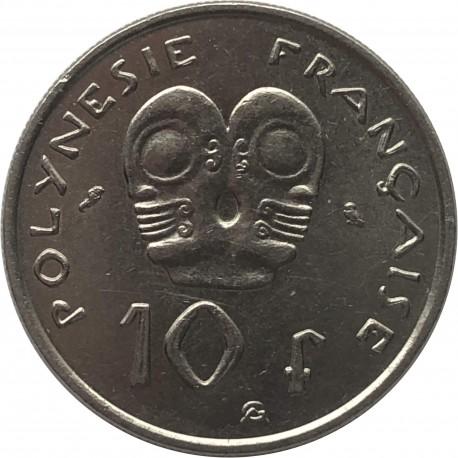 Polinezja Francuska 10 franków, 1975, stan 3