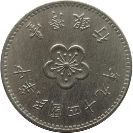 Tajwan 1 dolar, 1960, stan 3
