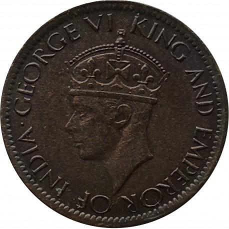 Cejlon 1 cent, 1942, stan 3
