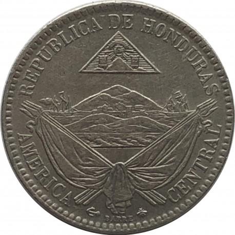 1/4 reala, Honduras, 1869, stan 3+