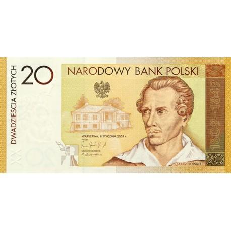 20 zł, Banknot - 200. rocznica urodzin Juliusza Słowackiego