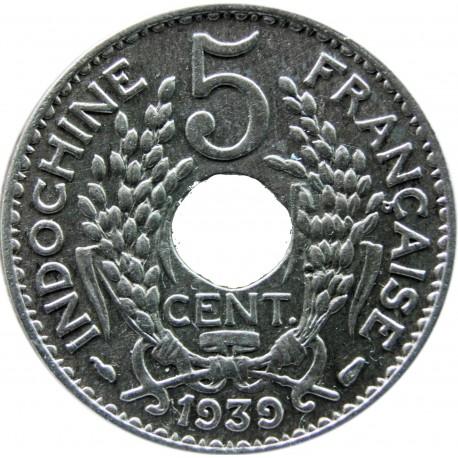 Indochiny Francuskie 5 centymów, 1939