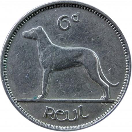 Irlandia 6 pensów, 1947