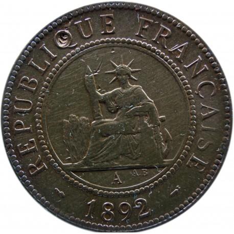 Indochiny Francuskie 1 centym, 1892
