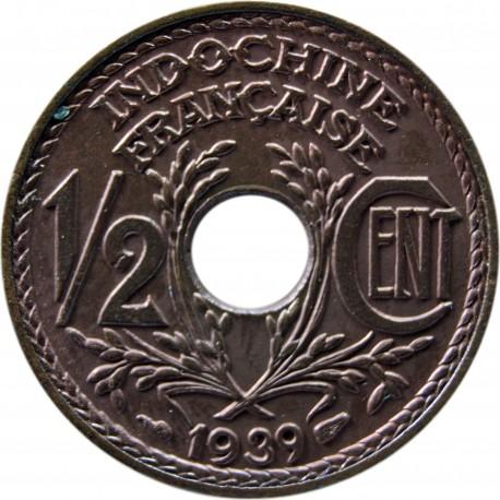 Indochiny Francuskie ½ centyma, 1939