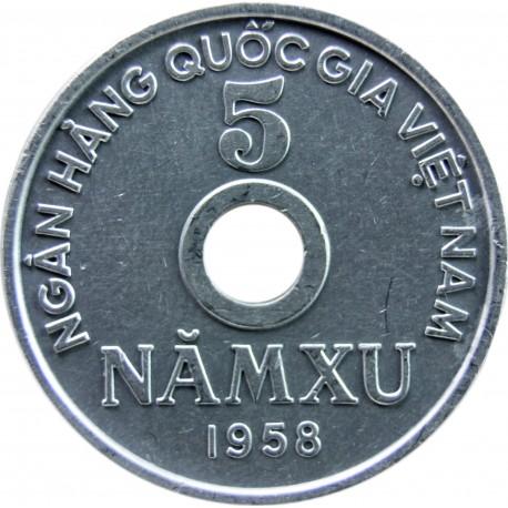 Wietnam 5 xu, 1958, stan 1-