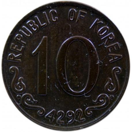 Korea Południowa 10 hwan, 4292 (1959)