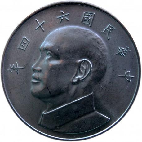 Tajwan 5 yuanów, 1975