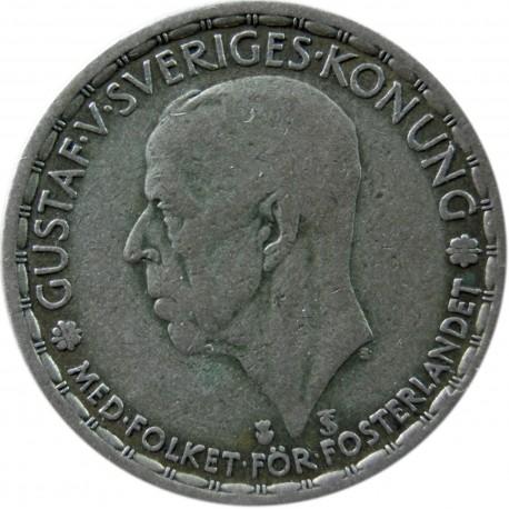 Szwecja 1 korona, srebro, 1946