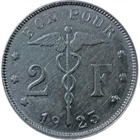 Belgia 2 franki, 1923 'BELGIQUE'