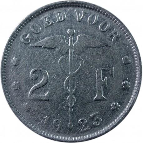 Belgia 2 franki, 1923 'BELGIË'