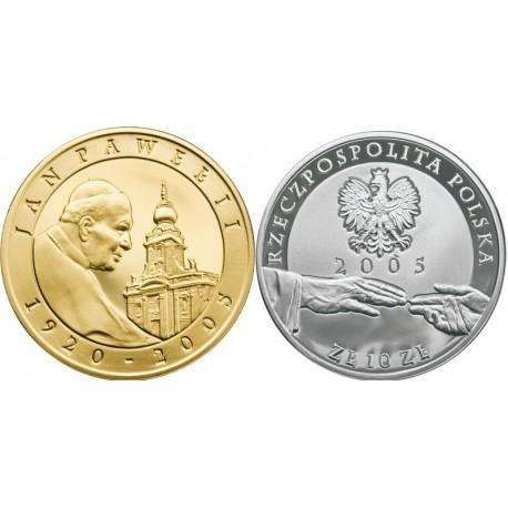 10 zł, Jan Paweł II 1920 - 2005 (platerowany)