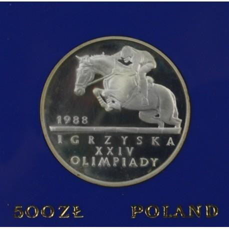 500 zł, Igrzyska XXIV Olimpiady 1988 - Seul, Jeździec