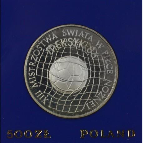 500 zł, XIII Mistrzostwa Świata w Piłce Nożnej - Meksyk '86