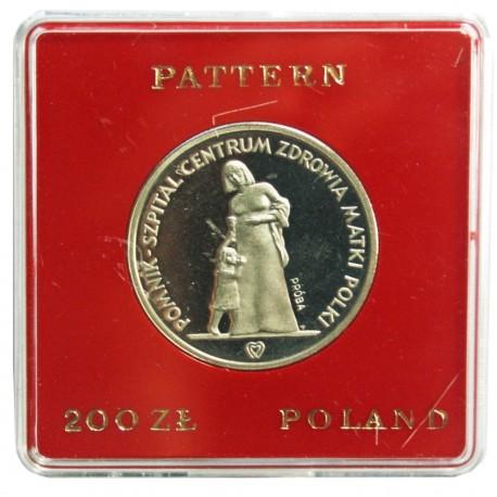 200 zł, Pomnik Szpital Centrum Zdrowia Matki Polki - próba
