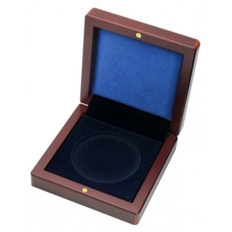 Mahoniowe etui na monetę o średnicy kapsuły do 60 mm