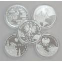 5 szt. x 20 zł srebrna lustrzanka NBP