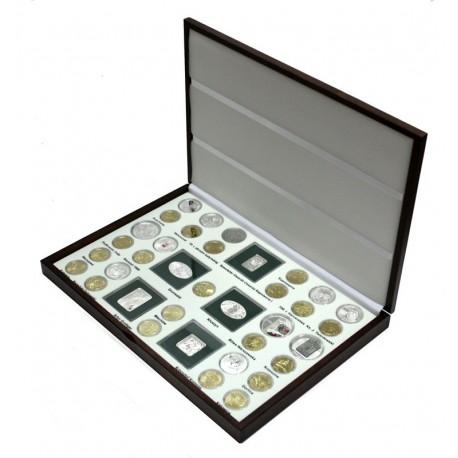 Kaseta rocznik 2010 do przechowywania monet srebrnych i 2zł GN.