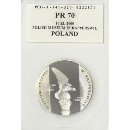 10 zł, Muzeum Polskie w Rapperswilu, PR70