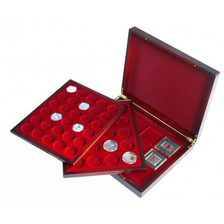Kaseta mahoniowa MIX do 62 różnych monet (10 zł, 20 zł, klipy)