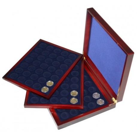 Mahoniowa kaseta do przechowywania 105 monet 2 zł / 2 euro