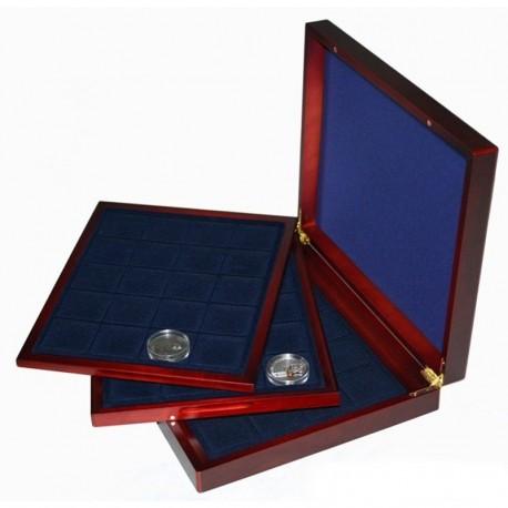 Mahoniowa kaseta do przechowywania dużych monet np 20 zł do 48mm