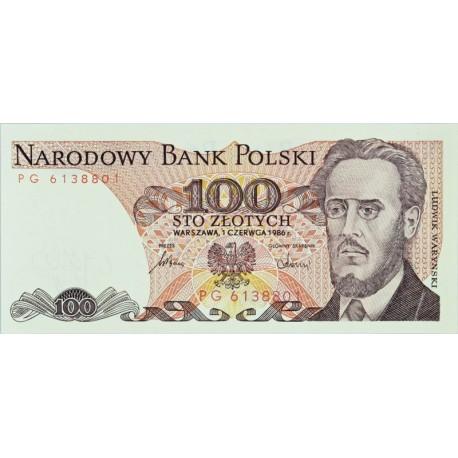 100 zł, Ludwik Waryński, 1986
