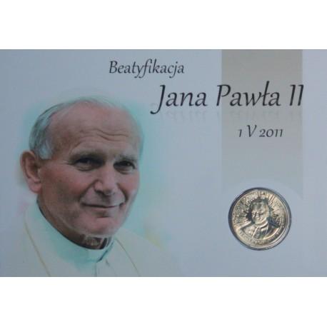 2 zł GN, Beatyfikacja Jana Pawła II umieszczona w pocztówce
