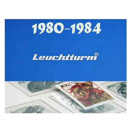 Hawidy na znaczki z lat 1980-1984 - Leuchtturm