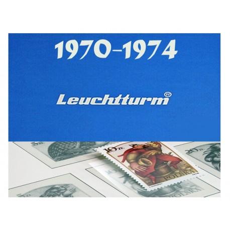 Hawidy na znaczki z lat 1970-1974 - Leuchtturm