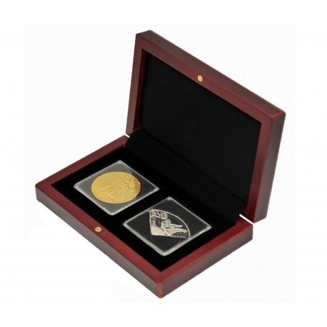 Etui na dwie monety w kapsułach quadrum