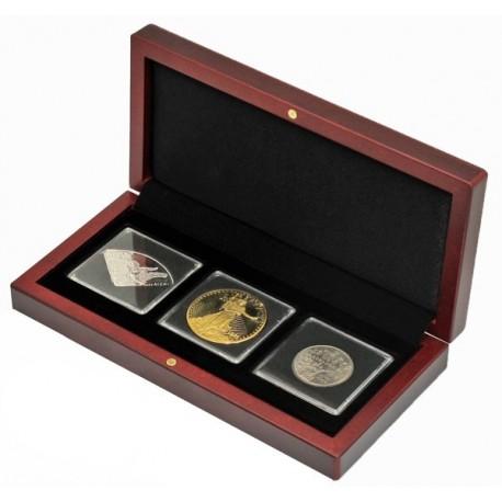 Etui na trzy monety w kapsułach quadrum