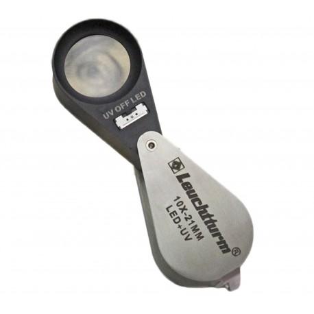 Lupa z podświetleniem diodami LED i lampą UV (10x)