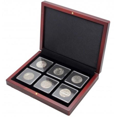 Etui na 6 monet w kapsułach quadrum + kapsuły
