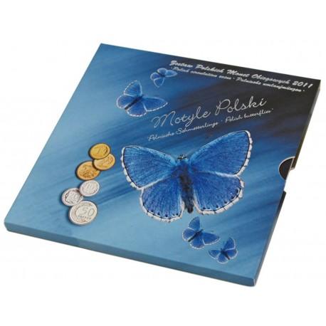 Zestaw polskich monet obiegowych 2011