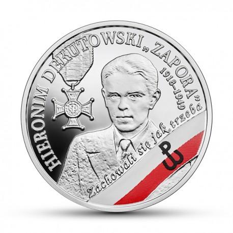 """10 zł żołnierze niezłomni – Hieronim Dekutowski, """"Zapora"""""""