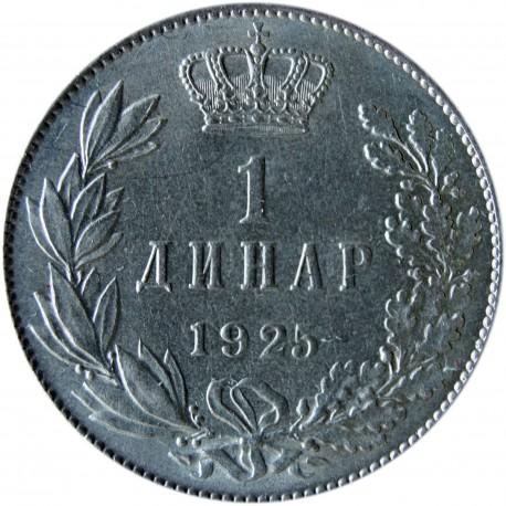 Jugosławia 1 dinar, 1925, piękny