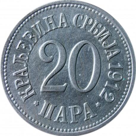 Serbia 20 para, 1912
