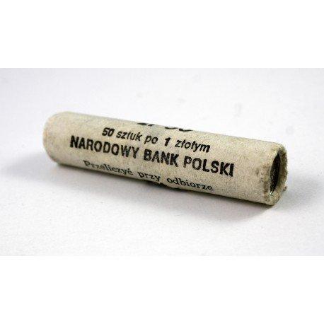 Rolka bankowa 50 szt. x 1 zł, 1989, mennicze
