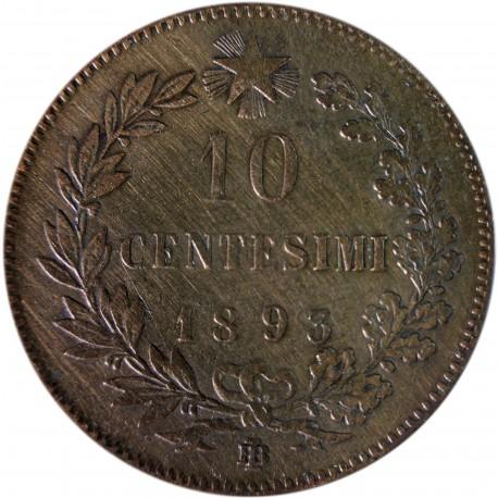 Włochy 10 centesimi, Umberto I, 1893