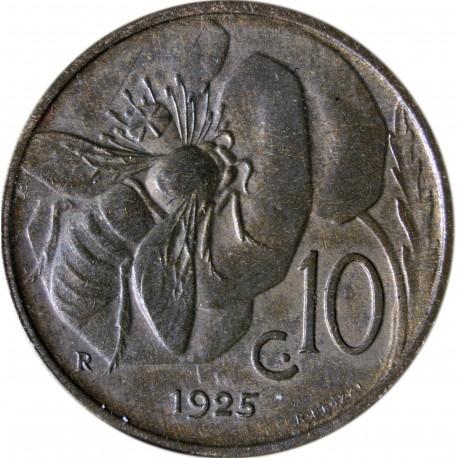Włochy 10 centesimi, 1925, stan 3