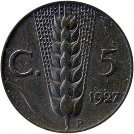 Włochy 5 centesimi, 1927, stan 3