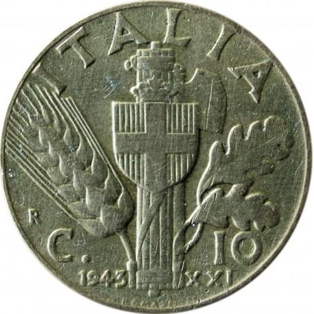 Włochy 10 centesimi, 1943, stan 2