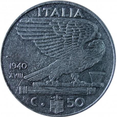 Włochy 50 centesimi, 1940, stan 1-