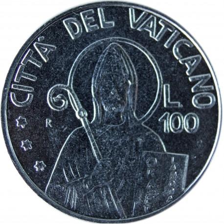 Watykan 100 lirów, 1990, stan 1