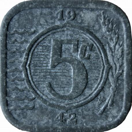 Holandia 5 centów, 1942