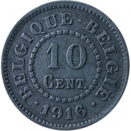 Belgia 10 centymów, 1916, stan 3