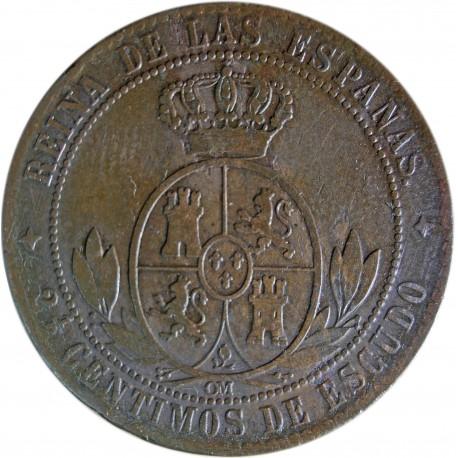 Hiszpania 2½ centyma, 1868, stan 3
