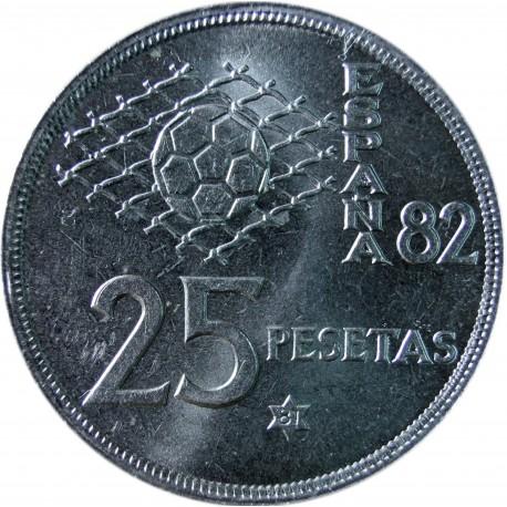 Hiszpania 25 peset, FIFA, 1980, stan 1-