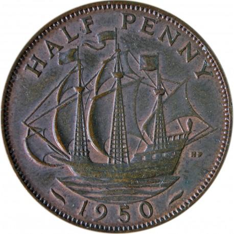 Wielka Brytania ½ pensa, 1950